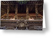 Panote Temple Struts - Nepal Greeting Card by Craig Lovell