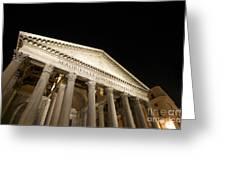 Pantheon at night. Rome Greeting Card by BERNARD JAUBERT