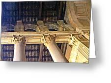 Pantheon Columns Greeting Card by Mindy Newman