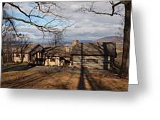Papa Toms Cabin In The Woods Greeting Card by Robert Margetts