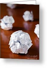Paper Balls Greeting Card by Carlos Caetano