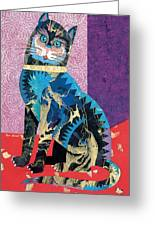 Paper Cat Greeting Card by Bob Coonts