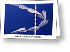 Paper Flight Fantasies - Air Race Greeting Card by Jerry Taliaferro