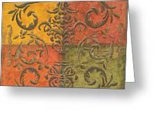 Paprika Scroll Greeting Card by Debbie DeWitt