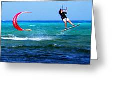 Para Surfing In Cozumel Mexico Greeting Card by Danielle  Parent