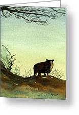 Parable Of The Lost Sheep Greeting Card by Marsha Elliott