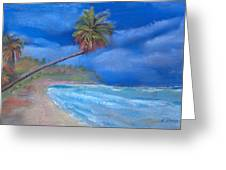 Paradise In Puerto Rico Greeting Card by Arline Wagner