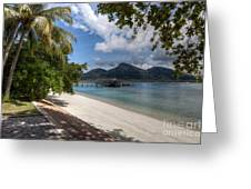 Paradise Island Greeting Card by Adrian Evans
