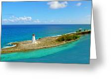 Paradise Island Greeting Card by Kathy Jennings