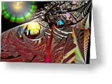 Parallel Worlds Greeting Card by Michael Durst
