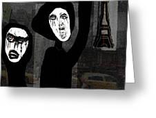 Paris After Dark Greeting Card by Ruth Clotworthy