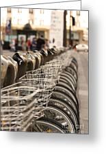 Paris Bikes Greeting Card by Igor Kislev