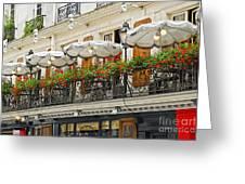 Paris Cafe Greeting Card by Elena Elisseeva