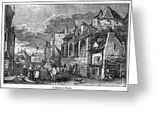 Paris: Street, 1830s Greeting Card by Granger