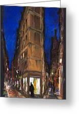 Paris Street 2 Greeting Card by Yuriy  Shevchuk