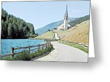 Parish Church St Nicholas Valdurna Italy Greeting Card by Joseph Hendrix