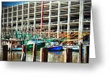 Parked Greeting Card by Barry Jones