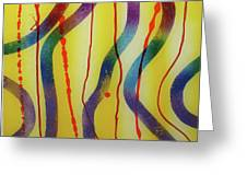 Party - Swirls 2 Greeting Card by Mordecai Colodner