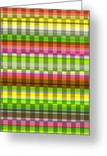 Party Stripe Greeting Card by Louisa Knight
