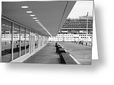 Passenger Terminal Greeting Card by Gaspar Avila