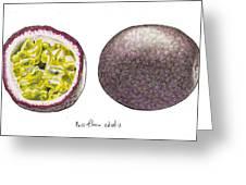 Passiflora Edulis Fruit Greeting Card by Steve Asbell