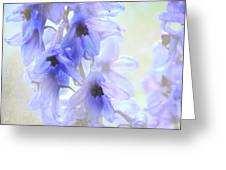 Passion For Flowers. Blue Dreams Greeting Card by Jenny Rainbow