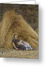 Past Work Greeting Card by Helen Allingham