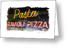 Pasta Greeting Card by Geoff Strehlow