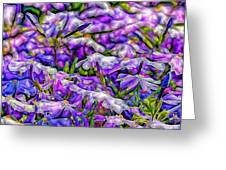 Pastelated Florets Greeting Card by Bill Tiepelman