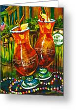 Pat O'brien's Hurricanes Greeting Card by Dianne Parks
