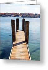 Path To The Harbor Greeting Card by Sheryl Burns