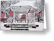 Patriotic Bandstand Greeting Card by Susan Cole Kelly