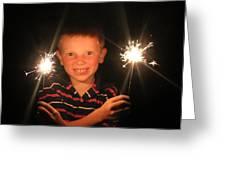 Patriotic Boy Greeting Card by Kelly Hazel