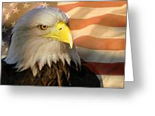 Patriotic Eagle Greeting Card by Marty Koch