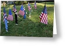Patriotic Lawn Ornaments Represent Greeting Card by Stephen St. John