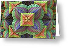 Pattern Pyramid Greeting Card by Lyle Hatch