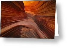 Patterned Sandstone Rock That Lies Greeting Card by Frans Lanting