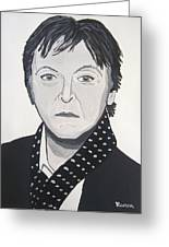 Paul Mccartney Greeting Card by Eamon Reilly