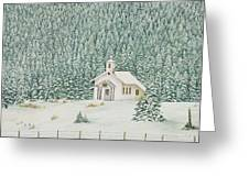 Peace In The Mountains Greeting Card by Mary Ann King