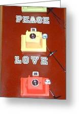 Peace Love Smile Greeting Card by Daniel Rollins