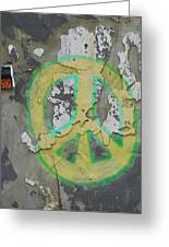 Peace No Trespassing Greeting Card by Todd Sherlock