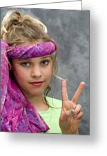 Peace Sign Greeting Card by Trudy Wilkerson