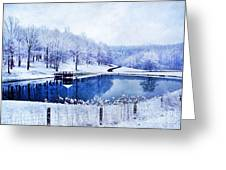 Peaceful Winters Day Greeting Card by Darren Fisher