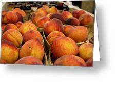 Peaches Ala Mollys Market Greeting Card by Theresa Johnson