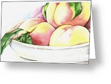 Peaches Greeting Card by Elizabeth York