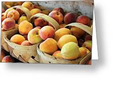 Peaches Greeting Card by Kristin Elmquist