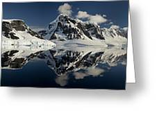 Peaks Along  Neumayer Channel Greeting Card by Colin Monteath
