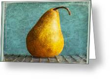 Pear Greeting Card by Cathie Tyler