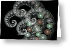Pearl Curls Greeting Card by Pam Blackstone