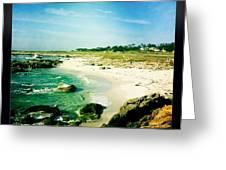 Pebble Beach Greeting Card by Nina Prommer